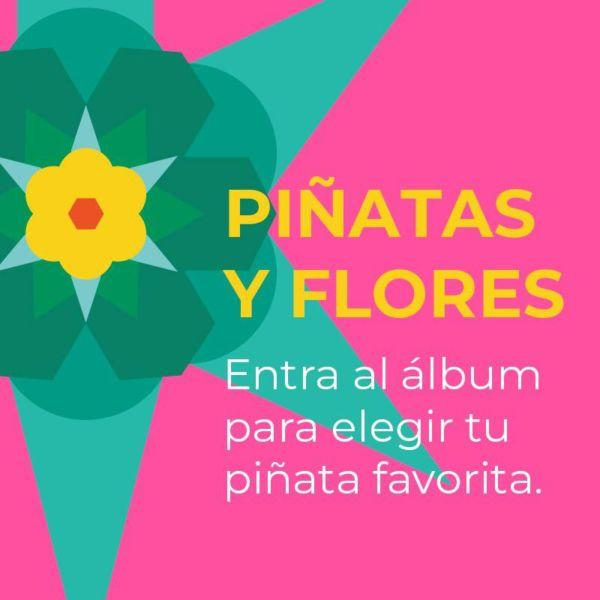 piñatas de flores en el bosque de Chapultepec