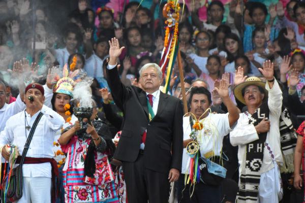 rituales indígenas del presidente de México