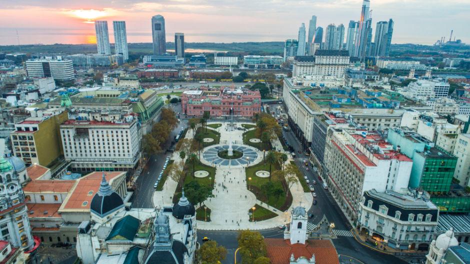 Plaza de Mayo imagen aérea