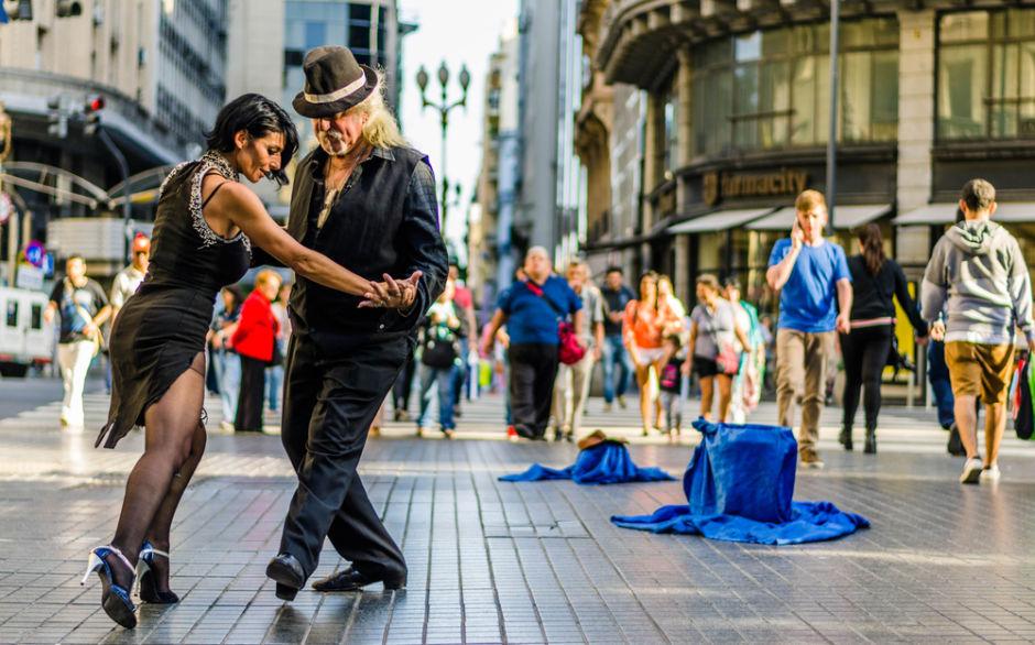 show de tango en calle Florida Buenos Aires