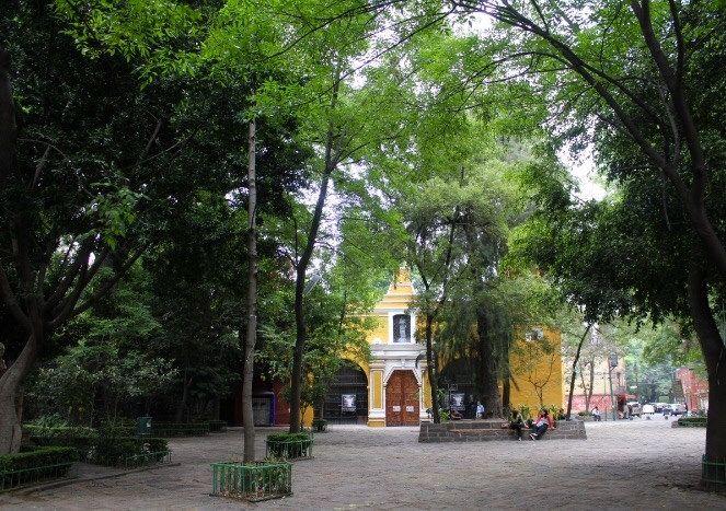 iglesia de Santa Catarina en Coyoacán