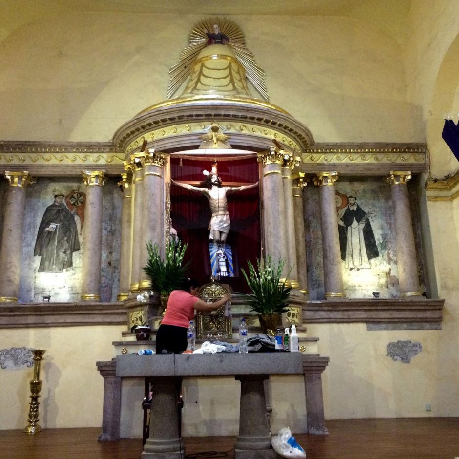 Iglesia de Santa Catarina en Coyoacán interior