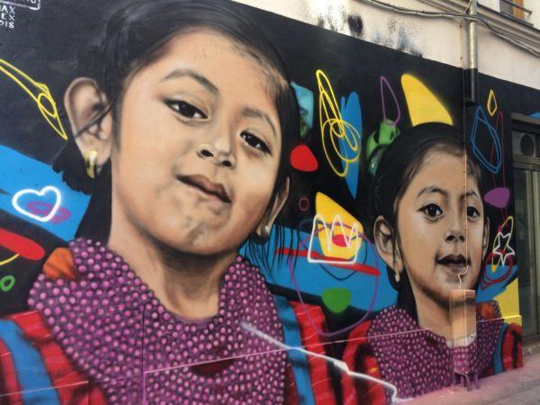 Joel Merino artista triqui murales en Europa
