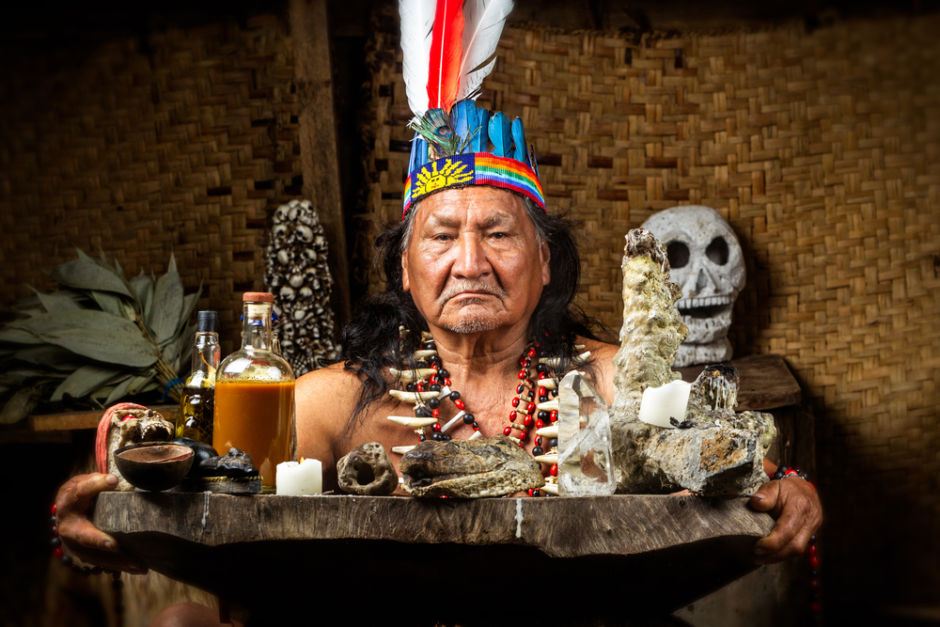 chamán ceremonia de ayahuasca