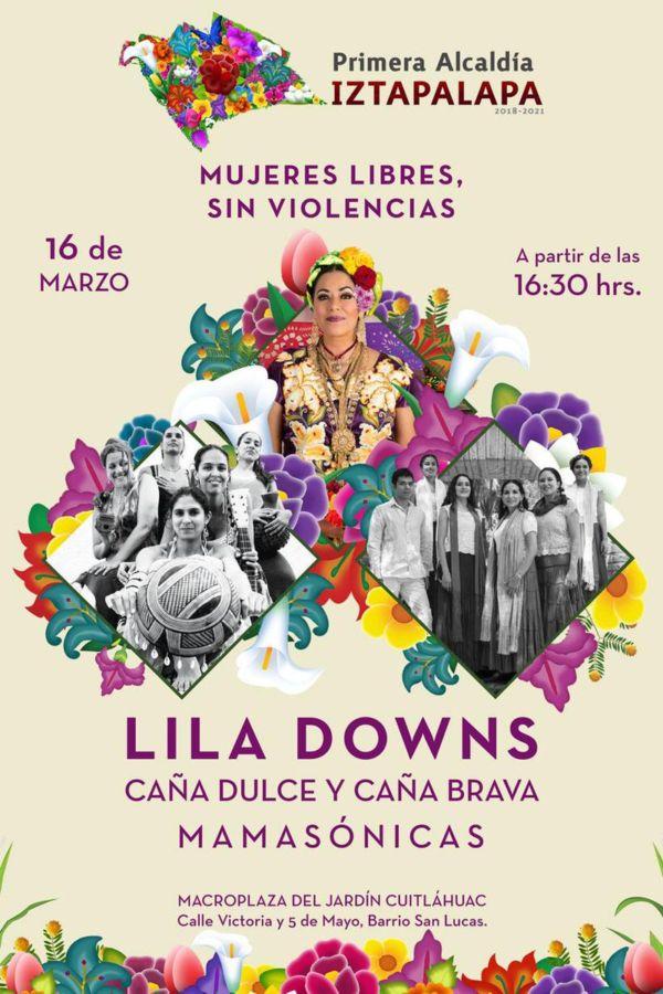 lila downs gratis en la ciudad de mexico