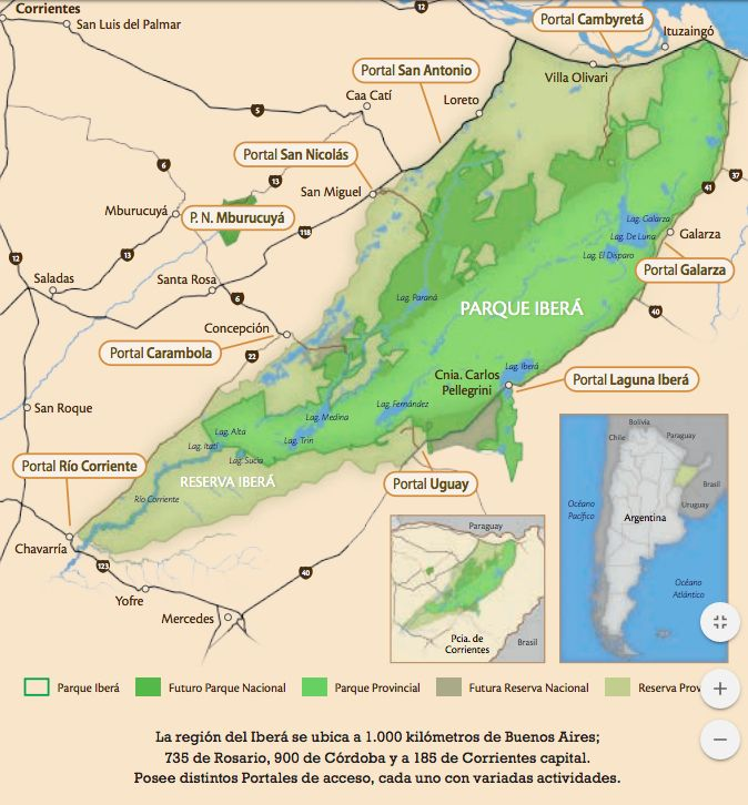 portales del Parque Nacional Iberá