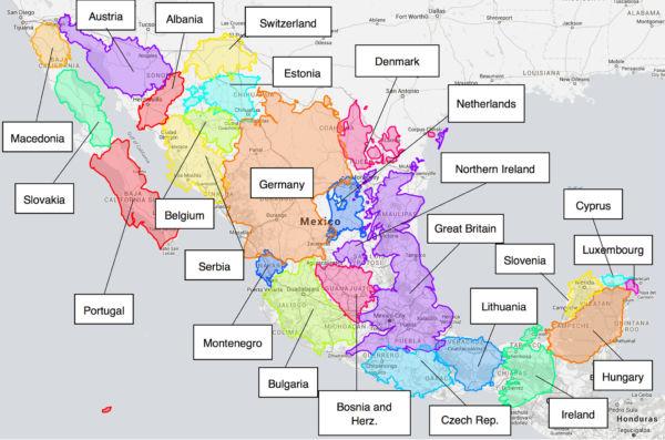 qué tan grande es México comparado con Europa mapas de México que te sorprenderán