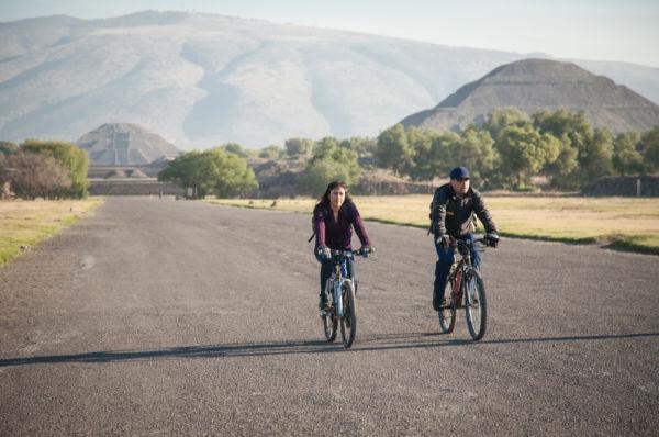 qué hacer en Teotihuacán recorrido en bicicleta
