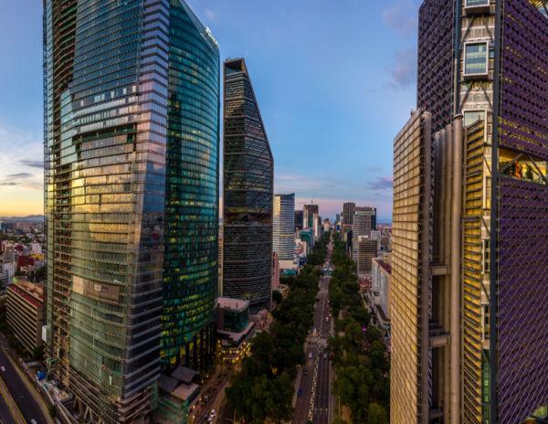 los edificios más altos de la Ciudad de México Paseo de la Reforma