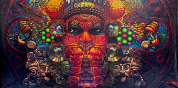 Cix Mugre muralista Oaxaqueño