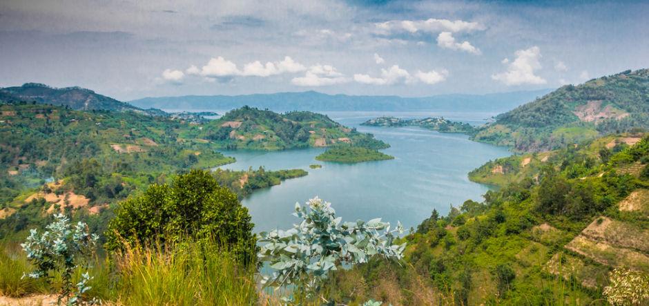 playa del lago Kivu Ruanda