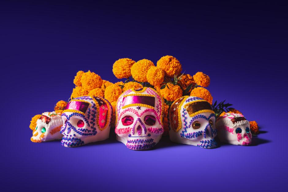 cempasúchil y el día de muertos