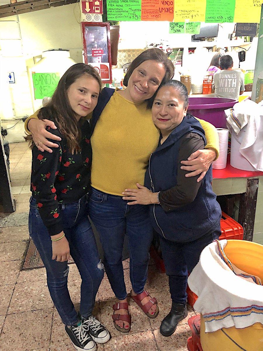 Irma mercado de antojitos de Coyoacán