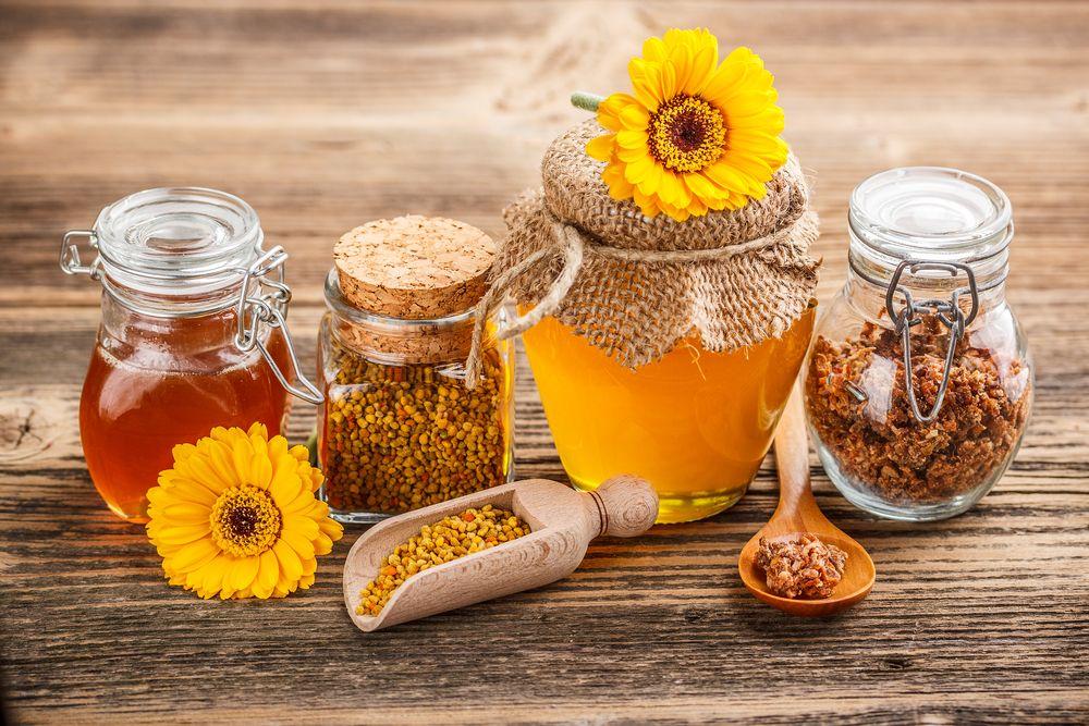 propoleo y productos derivados de la miel de abejas