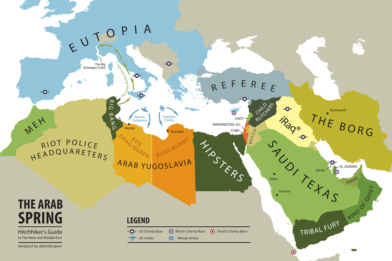 the arab spring map hitchhikers guide to the near and middle east