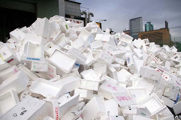 Styrofoam pile