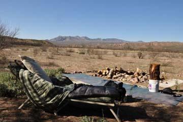 camp in the Arizona desert