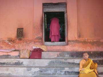 Steps in Bodh Gaya