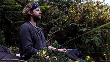 Jonas Elrod in meditation