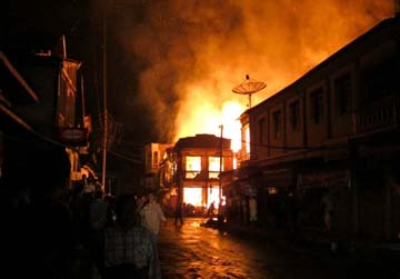 fire in burma