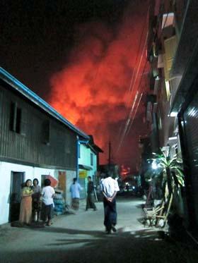burma fire
