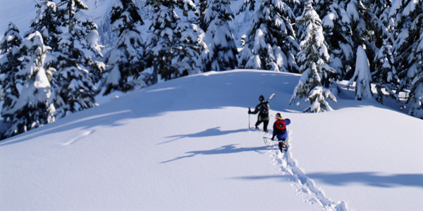skiing into the backcountry photo