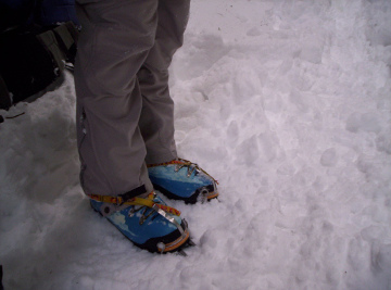 plastic mountaineering boots photo