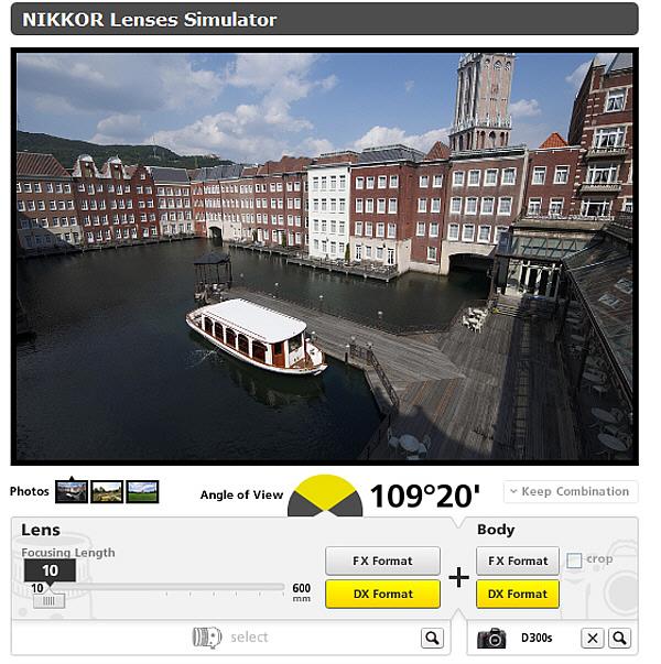 Nikkor Lenses Simulator