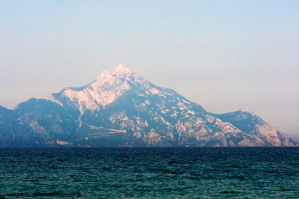 The peaks of Mount Athos
