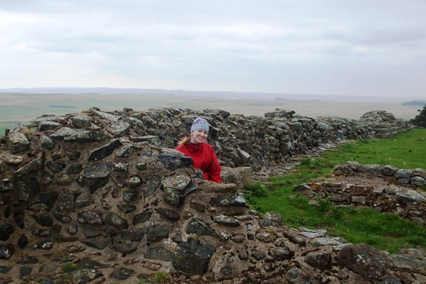 The author at Sewingshields Milecastle