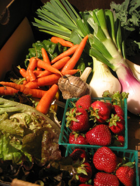 CSA fruit and veg box