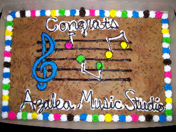 Congratulatory music cake