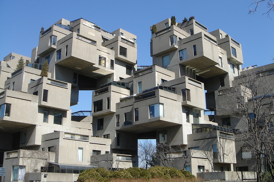 a housing complex called habitat 67 located in Montreal quebec.
