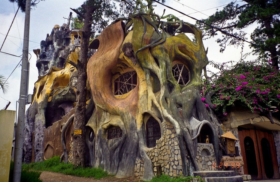 a very weird tree shaped house in vientnam