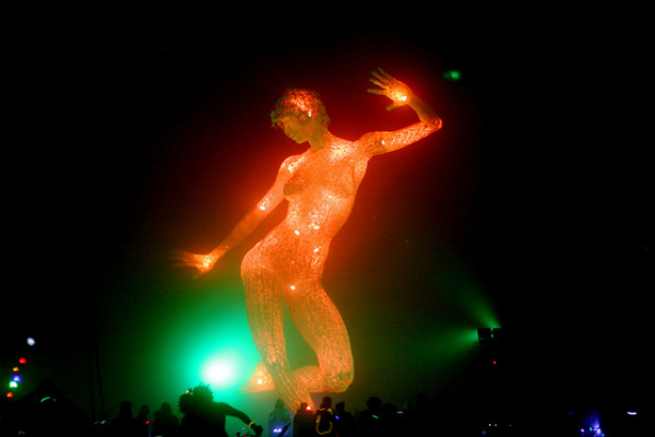 Burning Man statue