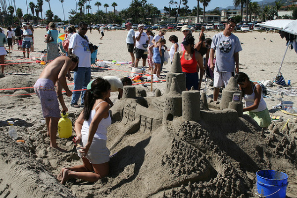 Building sandcastle
