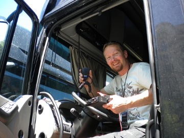 Fitting a CB radio to a truck