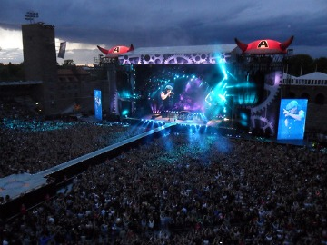 AC/DC playing Stockholm stadium