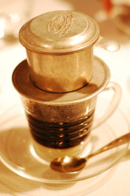 photo of a Vietnamese flat drip coffee pot