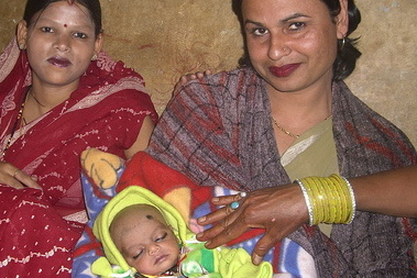 indian mother and baby