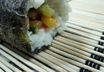 rice roll close up