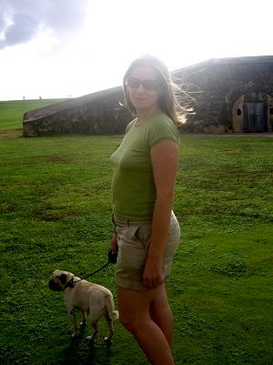 Julie in Old San Juan, Puerto Rico