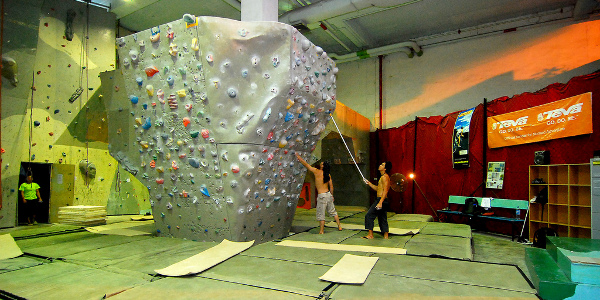 bouldering wall photo