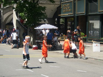 kids playing basketball photo