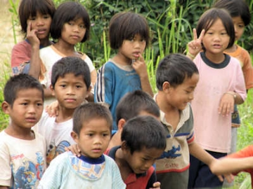 Thai village children