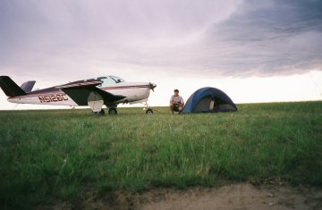 Camping with the plane, Montana