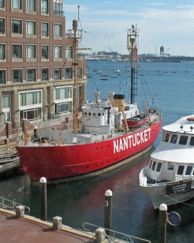 Nantucket Lightship at Rowes Wharf, Boston Harbor
