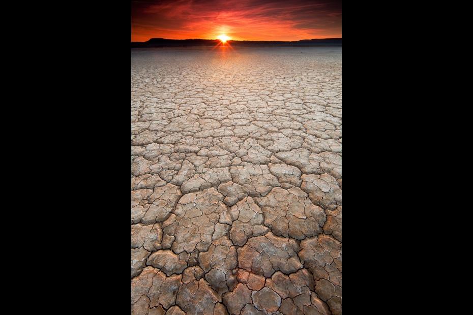 Sunset over Alvord Playa, Oregon