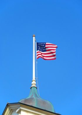 American flag at Tokyo Disneyland