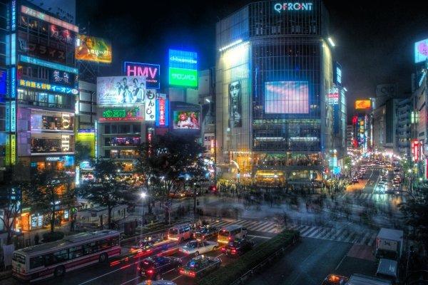 Shibuya, Tokyo, by night